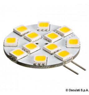 LAMPADINA 12 LED G4  Ø 30 MM. ATTACCO LATERALE