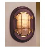 LAMPADA APPLIQUE MISURA 260X180 CON VETRO SABBIATO  IN OTTONE LUCIDO ART.2065.LS.3000