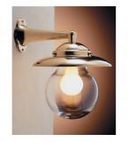 LAMPADA APPLIQUE IN OTTONE LUCIDO DIAMETRO 205MM CON VETRO TRASPARENTE ART.2071.LT