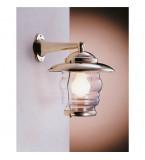LAMPADA APPLIQUE DIAMETRO 205MM IN OTTONE LUCIDO CON VETRO TRASPARENTE ART.2076.LT