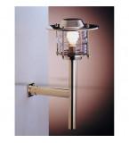 LAMPIONE PER ESTERNO IN OTTONE LUCIDO CON FISSAGGIO A PARETE Art.  2079.LT