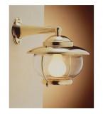 LAMPADA APPLIQUE IN OTTONE LUCIDO DIAMETRO 205MM CON VETRO TRASPARENTE ART.2118.LT