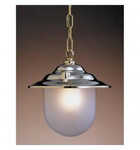 LAMPADA DA SOFFITTO DIAMETRO 270MM IN OTTONE LUCIDO CON VETRO SABBIATO ART.2130.LS
