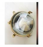 LAMPADA A TARTARUGA TONDA DIAMETRO 175MM  CON VETRO TRASPARENTE ART.2136.L