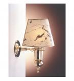 LAMPADA APPLIQUE MISURE 350X480MM IN OTTONE LUCIDO CON PERGAMENA ART.2204.LP
