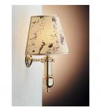LAMPADA APPLIQUE MISURE 225X400 MM IN OTTONE LUCIDO CON PERGAMENA ART.2205.LP