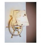 LAMPADA APPLIQUE  DIAMETRO 320MM CON PERGAMENA IN OTTONE LUCIDO ART.2215.LP