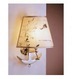 LAMPADA APPLIQUE MISURE 275X330 MM IN OTTONE LUCIDO CON PERGAMENA ART.2216.LP
