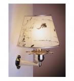 LAMPADA APPLIQUE MISURE 370X260 MM IN OTTONE LUCIDO CON PERGAMENA ART.2217.LP