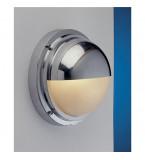LAMPADA APPLIQUE IN OTTONE CROMATO CON SCHERMO A VISIERA DIAMETRO 240MM ART.2225.C