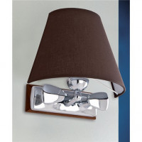 LAMPADA APPLIQUE MISURE 275X260 MM IN OTTONE LUCIDO CON PERGAMENA ART.2231.LP