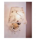LAMPADA APPLIQUE MISURE 275X320 MM IN OTTONE LUCIDO CON PERGAMENA ART.2233.LP