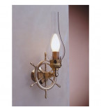 LAMPADA APPLIQUE DIAMETRO 185MM IN OTTONE LUCIDO ART.2236.LT
