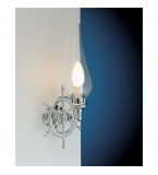 LAMPADA APPLIQUE  CON TIMONE IN OTTONE CROMATO DIAMETRO 185MM Art.  2236.CT