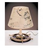 LAMPADE DA TAVOLO IN OTTONE LUCIDO CON PARALUME IN PERGAMENA SU BASE IN LEGNO ART.2281.LP