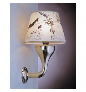 LAMPADA APPLIQUE DIAMETRO 220 MM IN OTTONE LUCIDO CON PERGAMENA ART.2285.LP