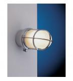 LAMPADA APPLIQUE DIAMETRO 270MM IN OTTONE CROMATO CON VETRO SABBIATO ART.2296.C