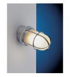 LAMPADA IN OTTONE CROMATO CON GRIGLIA DIAMETRO 100MM  INCLINAZIONE 15 GRADI Art.  2297.C