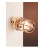 LAMPADA APPLIQUE DIAMETRO 100MM IN OTTONE LUCIDO ART.2297.L
