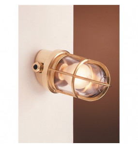 LAMPADA APPLIQUE DIAMETRO 100MM IN OTTONE LUCIDO ART.2297.L