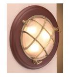 LAMPADA APPLIQUE IN OTTONE LUCIDO DIAMETRO 310MM CON VETRO SABBIATO ART.2327.LS.3000