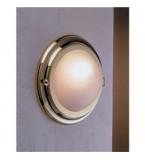 LAMPADA APPLIQUE IN OTTONE LUCIDO  DIAMETRO 260MM CON VETRO SABBIATO ART.2407A.VS