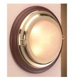 LAMPADA APPLIQUE IN OTTONE LUCIDO DIAMETRO 310MM CON VETRO SABBIATO ART.2410.VS.3000