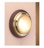 LAMPADA APPLIQUE IN OTTONE LUCIDO DIAMETRO 220MM CON VETRO SABBIATO ART.2411.VS.3000