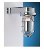 LAMPADA APPLIQUE IN OTTONE CROMATO TENUTA STAGNA Art.  2430B.E27.C