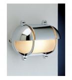 LAMPADA IN OTTONE CROMATO OVALE CON SCHERMO A VISIERA MISURE 274X210 Art.  2434.C