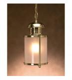 LAMPADA IN OTTONE PORTO RADIUM CON VETRO SABBIATO ART.3021