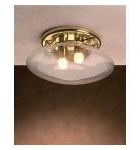 LAMPADA IN OTTONE PORTO PLATA MISURE 190X400MM CON VETRO TRASPARENTE Art.  3226