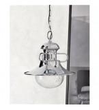 LAMPADA IN OTTONE CROMATO PORTO AZZURO DIMENSIONI 550X500MM CON VETRO TRASPARENTE Art.  3000.C
