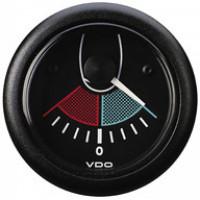 Indicatore Angolo di Barra VDO Ocean Line 12V 52mm. ghiera nera fondo nero N03211411