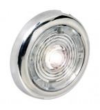 LUCI DI  CORTESIA ATTWOOD 1 LED FINITURA IN ACCIAIO INOX IP67 LUCE BIANCA DIAMETRO 38MM SPORGENZA 6MM