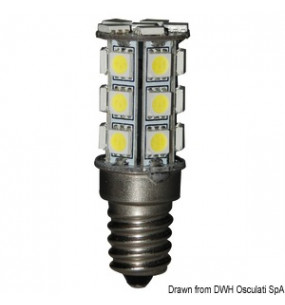 LAMPADINA LED SMD ATTACCO E14 12/24 V 3,2W EQUIVALENTE 20W