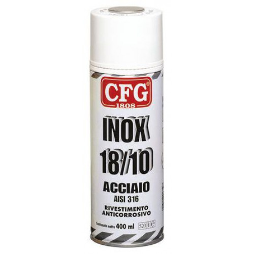 inox 18 10 cfg acciaio vernice galvanizzante spray anticorrosione 400ml. Black Bedroom Furniture Sets. Home Design Ideas
